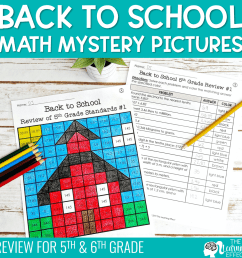 Back to School Math Mystery Pictures Activity [ 1000 x 1000 Pixel ]