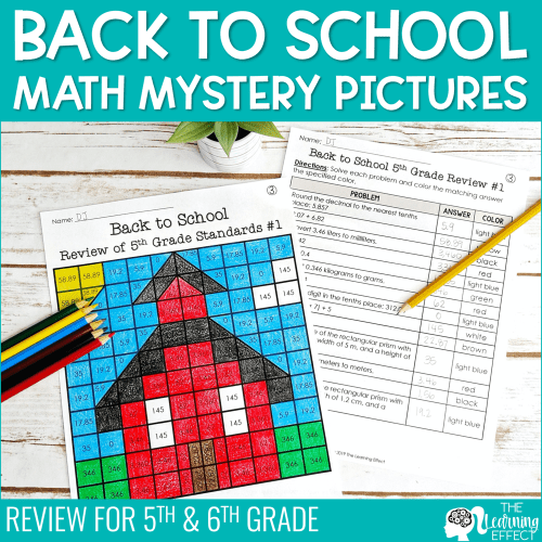 small resolution of Back to School Math Mystery Pictures Activity