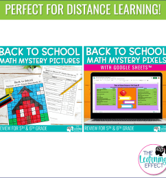 Back to School Math Mystery Pictures and Pixels Bundle [ 1000 x 1000 Pixel ]
