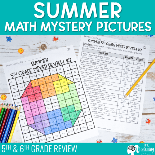 small resolution of Summer Math Mystery Pictures Activity   The Learning Effect Shop   The  Learning Effect
