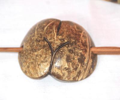 Coconut Shell Hair Pin