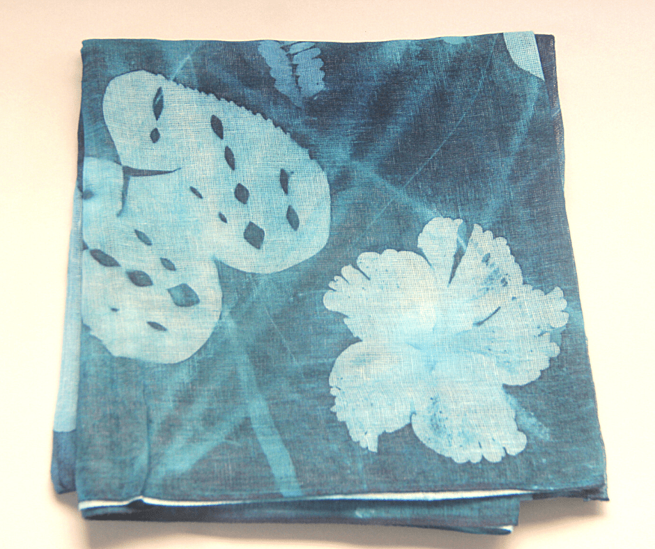 Hand Printed Cotton Scarf