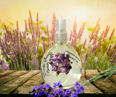 Coconut oil infused by scents 185ml