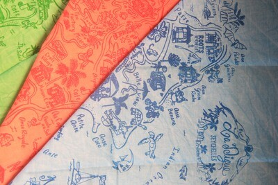 Hand printed cotton handkerchief