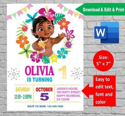 world birthday invitation printable