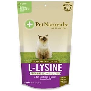 Pet Naturals of Vermont, L-賴氨酸,貓食