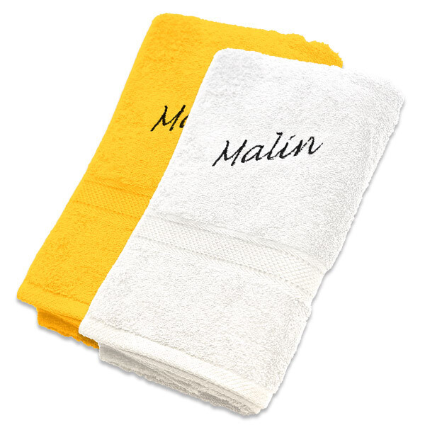 Håndkle med brodert navn standard 50x70 cm