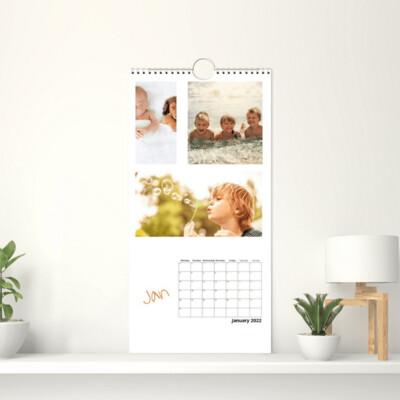 Veggkalender 15x30 cm