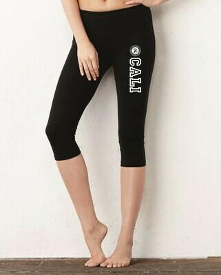 IS Ladies Black Capri Leggings / Leggings caprí para mujer - negro