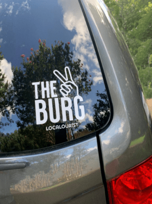 FREE SHIPPING - The Burg - Car Window Decal / Laptop Sticker