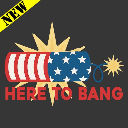 T-Shirt - Here To Bang