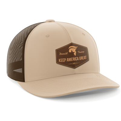 Hat - Leather Patch: Keep America Great