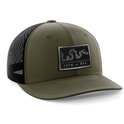 Hat - Black Leather Patch: Join or Die