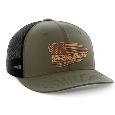 Hat - Leather Patch: We the People