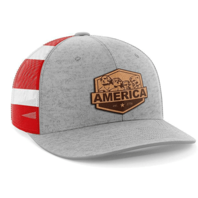 Hat - Leather Patch: Mount Rushmore