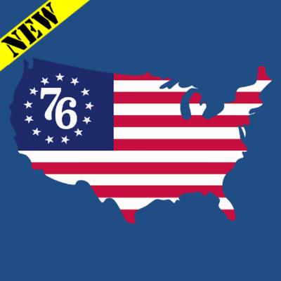 T-Shirt - 76 Flag Map