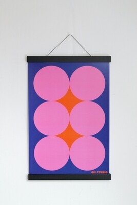'Pink Circles' A3 Print