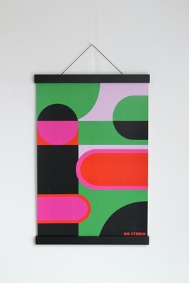'Coloured Forms II' A3 Print