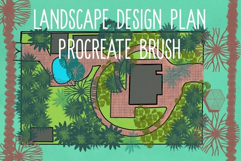 Landscape design procreate brushes