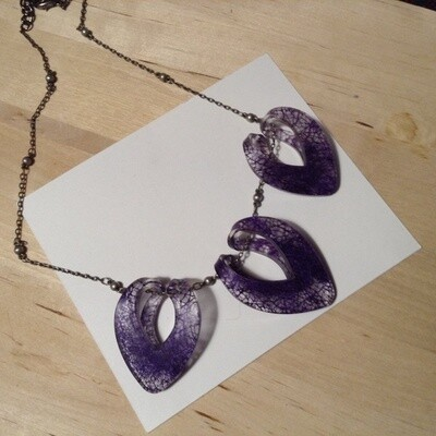 Purple Cocoon Necklace by Color by Amber