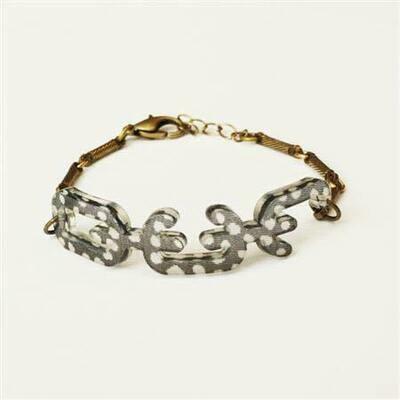 Color By Amber Freckled OUR carved bracelet
