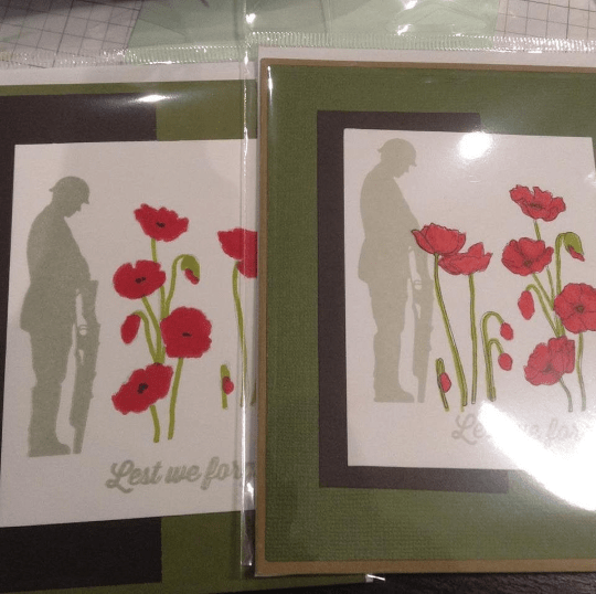 Remembrance Day Greeting Card/ Lest we Forget/ November 11/ Poppy/ Soldiers