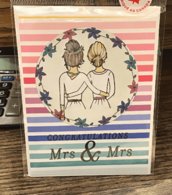Congratulations Mrs. and Mrs. Rainbow Card/ / Love/ Special Day/ Wedding/ Pride/ Rainbow Cake/ Commitment Ceremony