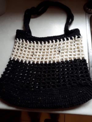 Reusable Crocheted Shopping Bag/ Market, beach, shopping