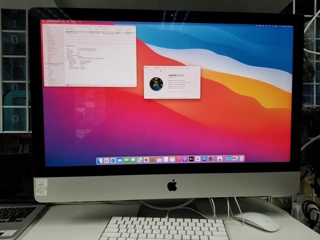 iMac 2017 Intel Core i5 @3.8GHz 24GB 2.12TB HD 27