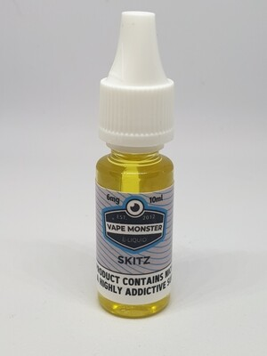 Vape Monster Skitz 10ml 6mg 60/40