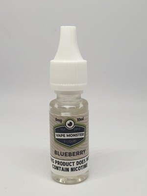 Vape Monster Blueberry 10ml 0mg 60/40