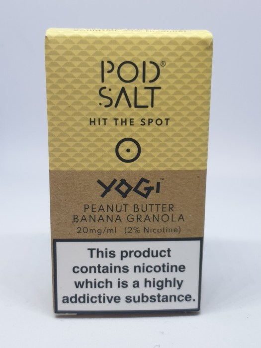 Pod Salt Yogi Peanut Butter Banana Granola 10ml 20mg