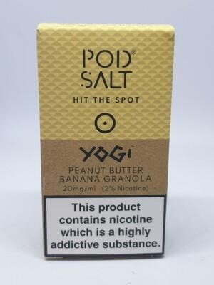 Pod Salt Yogi Peanut Butter Banana Granola 10ml 20mg