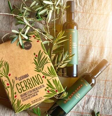 GERBINO Organic Extra Virgin Olive Oil Gift Pack