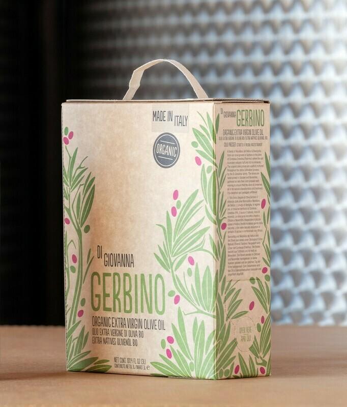 GERBINO Organic Olive Oil 3 Lt. Box