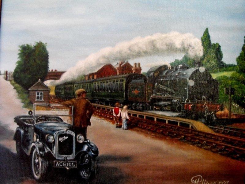 STEAM TRAIN  and  CAR
