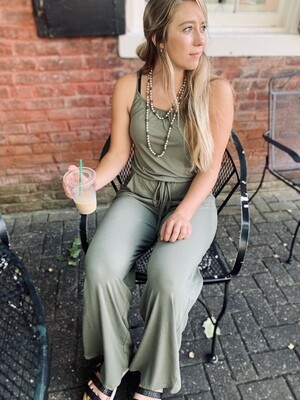 Spaghetti Strap Jumpsuit with Pocket