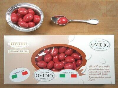 Confetto Cioccomandorla con Cioccolato Fondente e Peperone Rosso Dolce di Altino Colore Rosso Naturale
