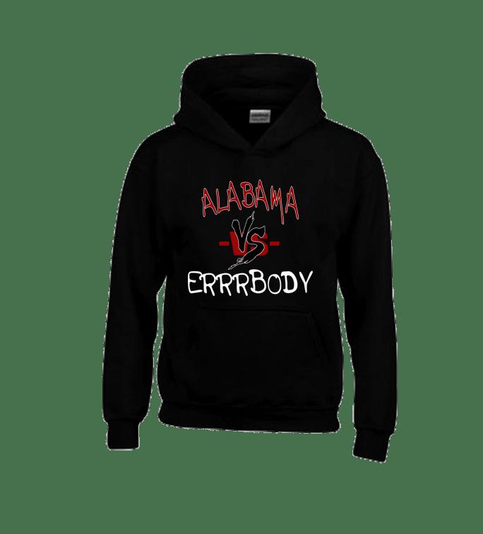 Alabama Vs Errrbody Black Hoodie