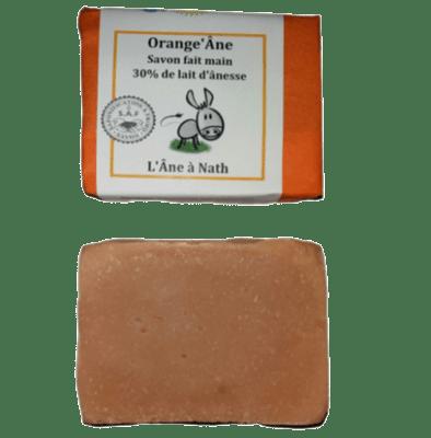 Orange'Âne, savon 30% de lait d'ânesse, saponification à froid
