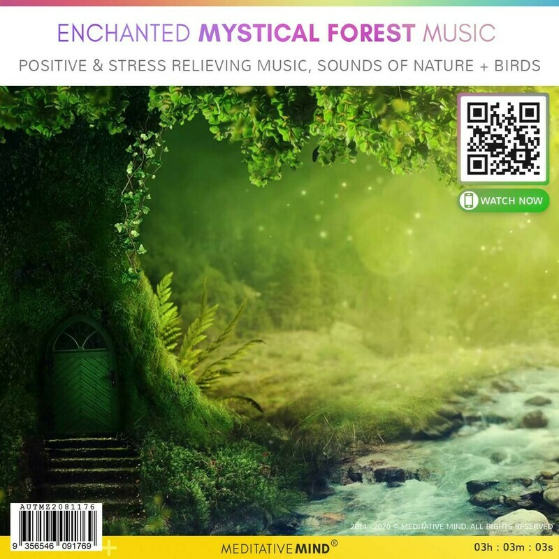 ENCHANTED MYSTICAL FOREST MUSIC - Positive & Stress Relieving Music, Sounds of Nature + Birds