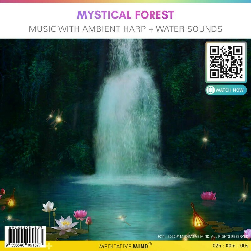 MYSTICAL FOREST - Music with Ambient Harp + Water Sounds