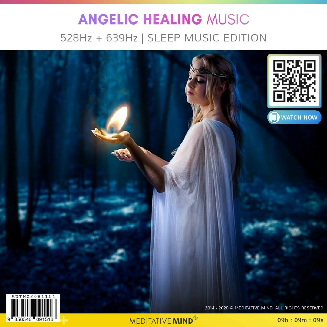 ANGELIC HEALING MUSIC - 528Hz + 639Hz | Sleep Music Edition
