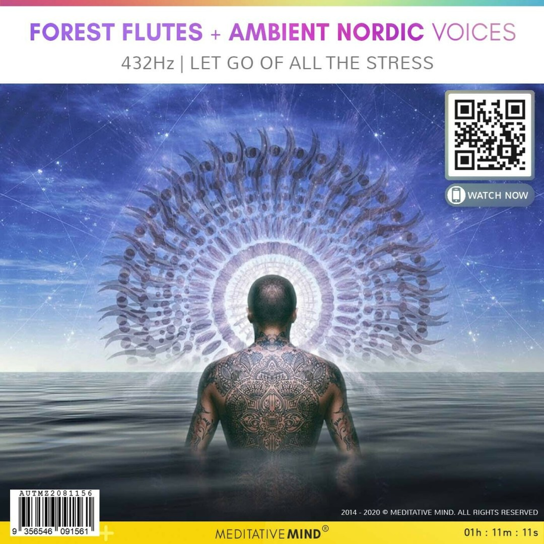 FOREST FLUTES + Ambient Nordic Voices - 432Hz | Let Go of All the Stress