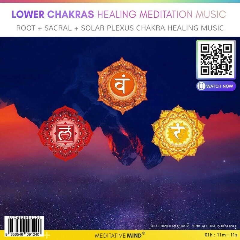 LOWER CHAKRAS HEALING MEDITATION MUSIC - Root + Sacral + Solar Plexus Chakra Healing Music