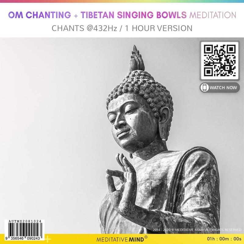 OM Chanting + Tibetan Singing Bowls Meditation - Chants @432Hz, 1 Hour Version