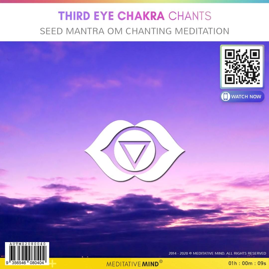 Third Eye Chakra Chants - Seed Mantra OM Chanting Meditation
