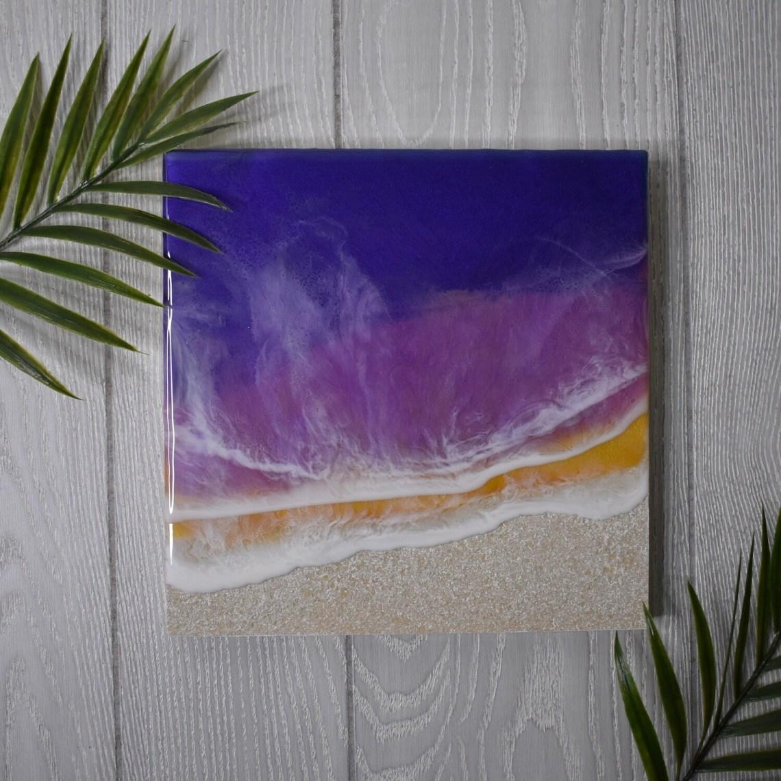 Textured Sand Sunset Resin