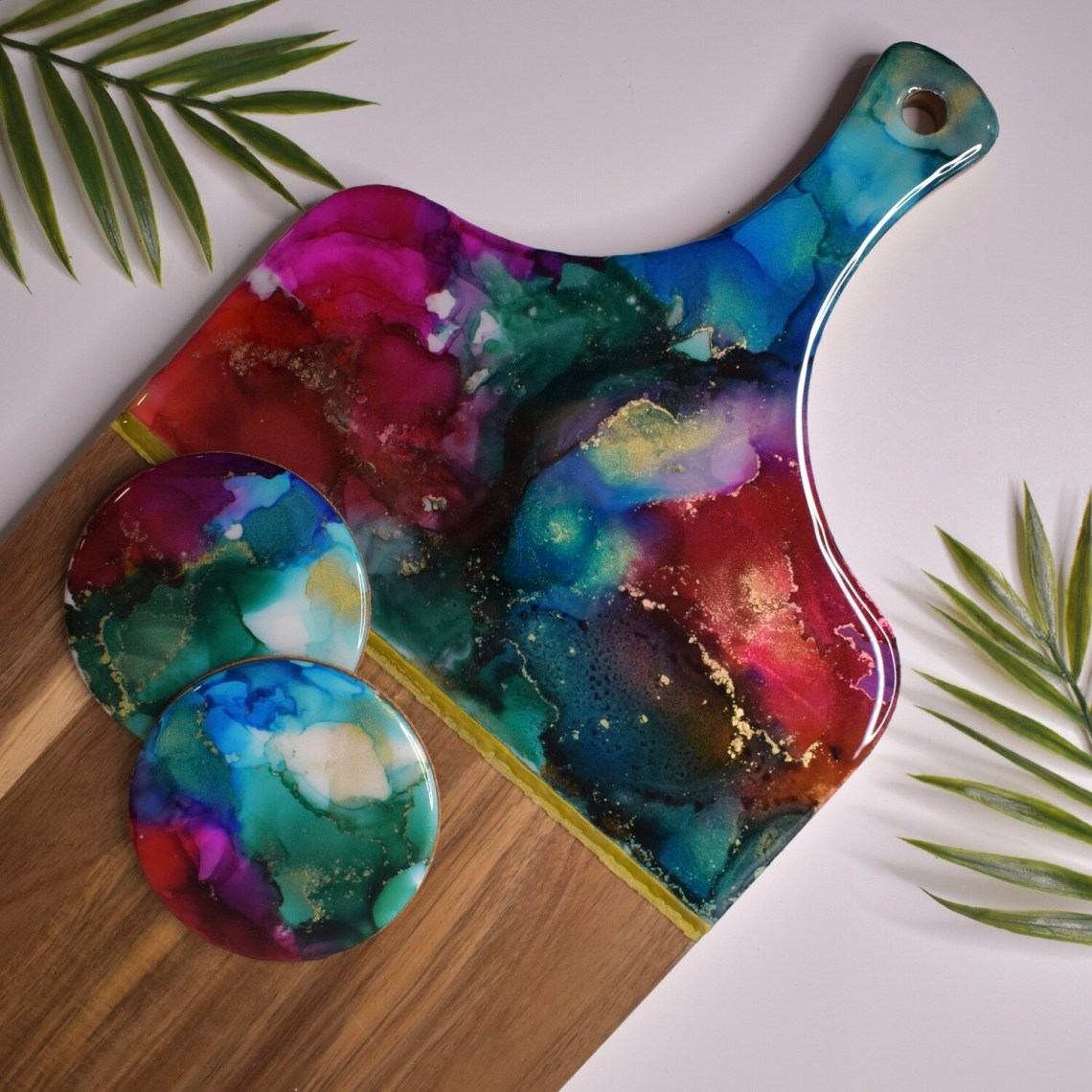Custom Resin Cutting Board Set