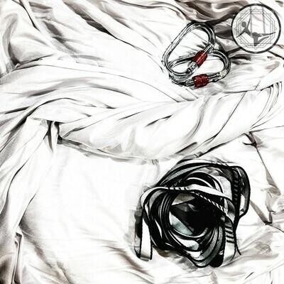 Silver Aerial Yoga Hammock / Silk Set
